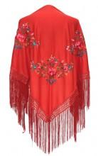 Flamenco Shawl red triangular