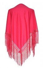 Flamenco Shawl bright pink plain