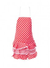 Flamenco Apron red white small