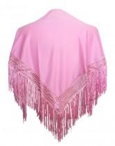 Flamenco shawl light pink plain small