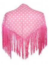 Flamenco Shawl light pink polkadots