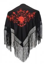 Flamenco Shawl black red Small