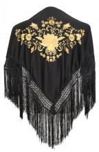 Flamenco Shawl black gold Small