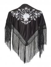 Flamenco Shawl black white Small