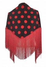 Flamenco Shawl black red dots