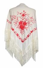Flamenco Shawl off white red
