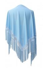 Flamenco Shawl plain light blue