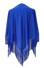Flamenco Shawl plain royal blue