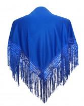 Flamenco Shawl royal blue plain Small