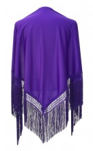 Flamenco Shawl plain purple