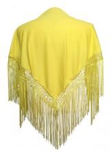 Flamenco Shawl plain yellow Small