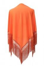 Flamenco Shawl plain orange