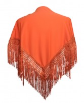 Flamenco Shawl plain orange Small
