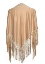 Flamenco Shawl plain beige