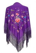 Flamenco Shawl purple multi colored