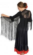 Spanish Mantoncillo de Crochet black