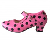 Flamenco Shoes pink black