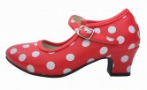 Flamenco Shoes red white