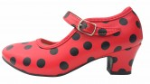 Flamenco Shoes red black