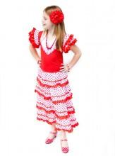 Spanish Flamenco Dress red/white