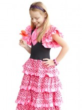 Spanish Flamenco Dress pink/black