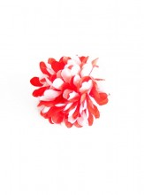 Hair Flower red white