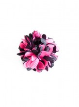 Hair Flower pink black