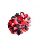 Hair flower black red