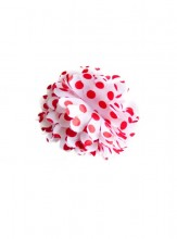Hair Flower white with red dots