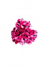 Hair flower pink with black dots