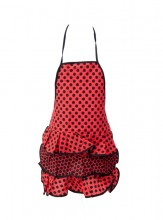 Flamenco Apron red black small