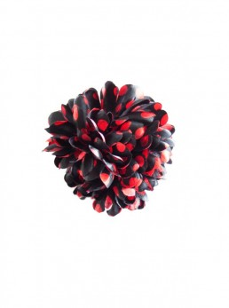 Hair Flower black with red dots