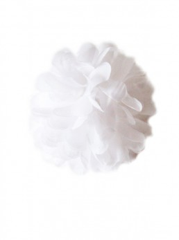 Flamenco Hair Flower white