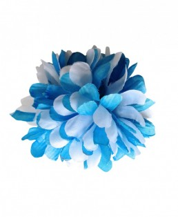 Hair Flower blue white