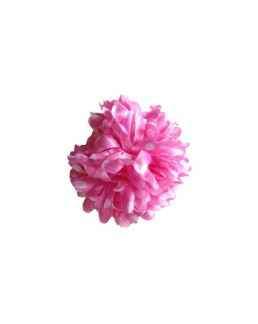 Hair Flower light pink with white dots