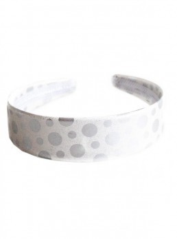 Headband with silver dots