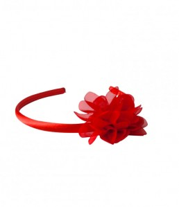 Headband with red flower