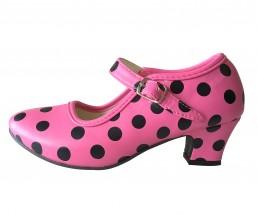 Flamenco Shoes pink black