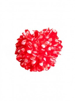 Hair Flower red with white dots