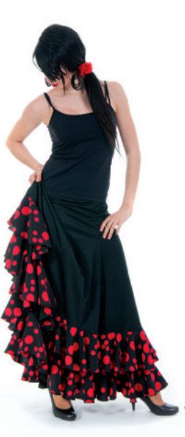 Spanish Flamenco Dress Flamenco Skirt Ladies With Dots