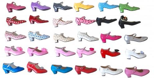 Spanische Schuhe farben